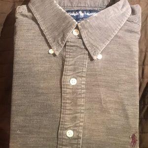 Long sleeve corduroy button down